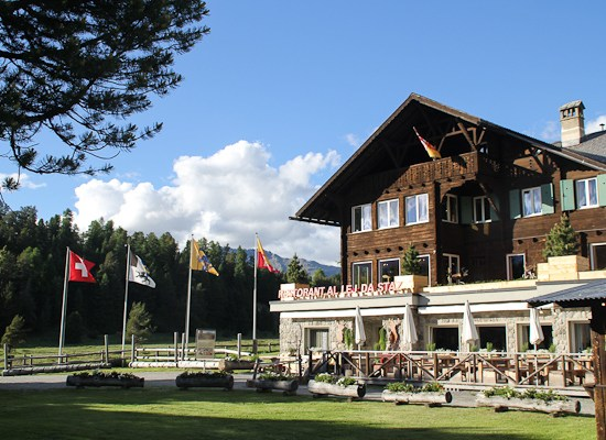Switzerland, St. Moritz, Lej Da Staz,