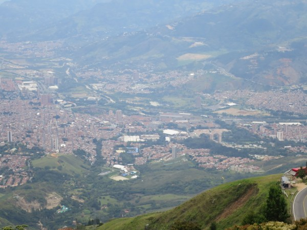 Medellín as seen from our jumping-off point. It was pretty high.