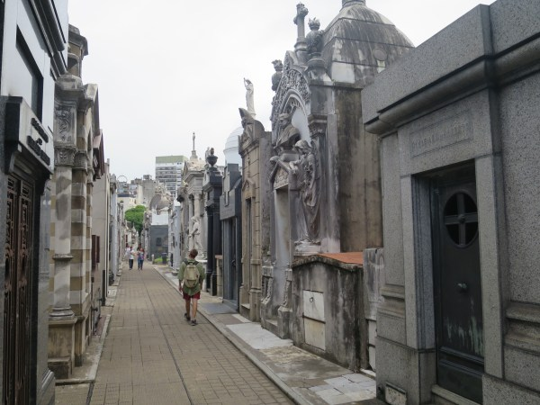 La Recoleta Cemetery. It's easy to get lost amongst the tombs.