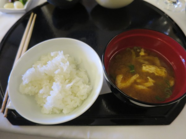 Steamed rice and miso soup