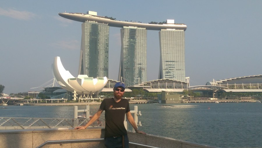 The Marina Bay Sands from afar