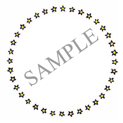 Stars Round Canning Label #B139