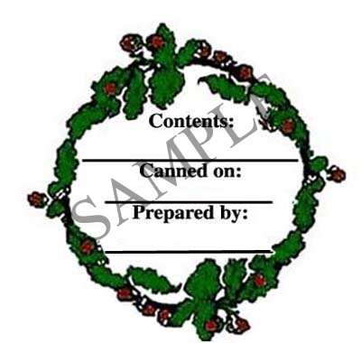 Leaves and Acorns Wreath Canning Label #L123