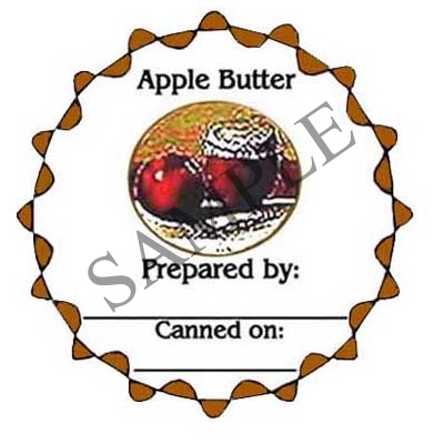 Scalloped Apple Butter Round Canning Label #L132