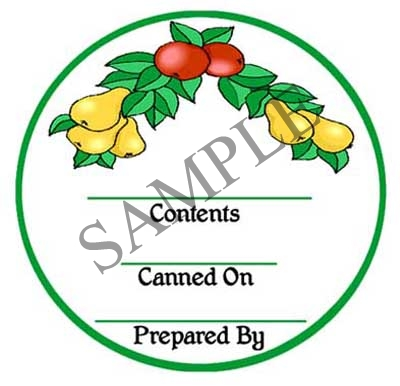 Generic Fruit Round Canning Label #L252