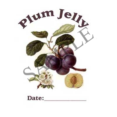 Plum Jelly Round Canning Label #L258