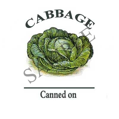 Cabbage Round Canning Label #L277