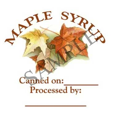 Maple Syrup Canning Label #L297