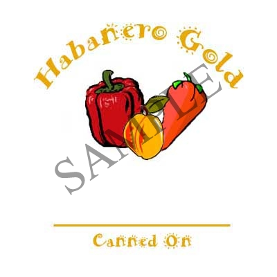 Habanereo Gold Round Canning Label #L316