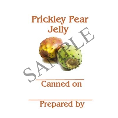 Prickley Pear Jelly Round Canning Label #L320