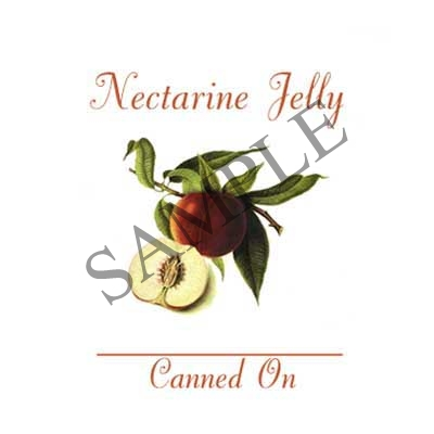 Nectarine Jelly Canning Label #L326