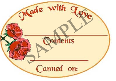 Made with Love Oval Canning Label #OV305
