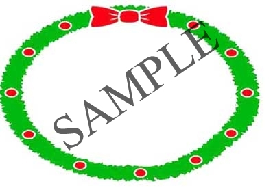 Christmas Wreath Border Blank Oval Canning Label #OV317B