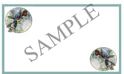 Border with Birds Blank Rectangle Canning Label #RB117
