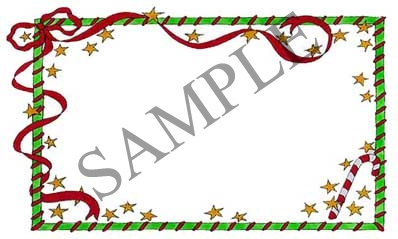 Christmas Ribbon Blank Rectangle Canning Label #RB121