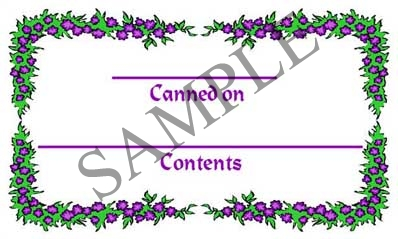 Purple Berry Border Rectangle Canning Label #RCT103