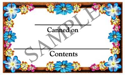 Flower Border Rectangle Canning Label #RCT111