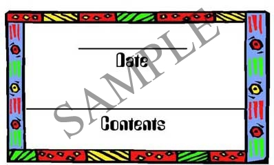 Art Deco Border Rectangle Canning Label #RCT114
