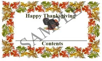 Rectangle Happy Thanksgiving Rectangle Canning Label #RCT122