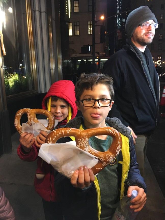 street pretzels