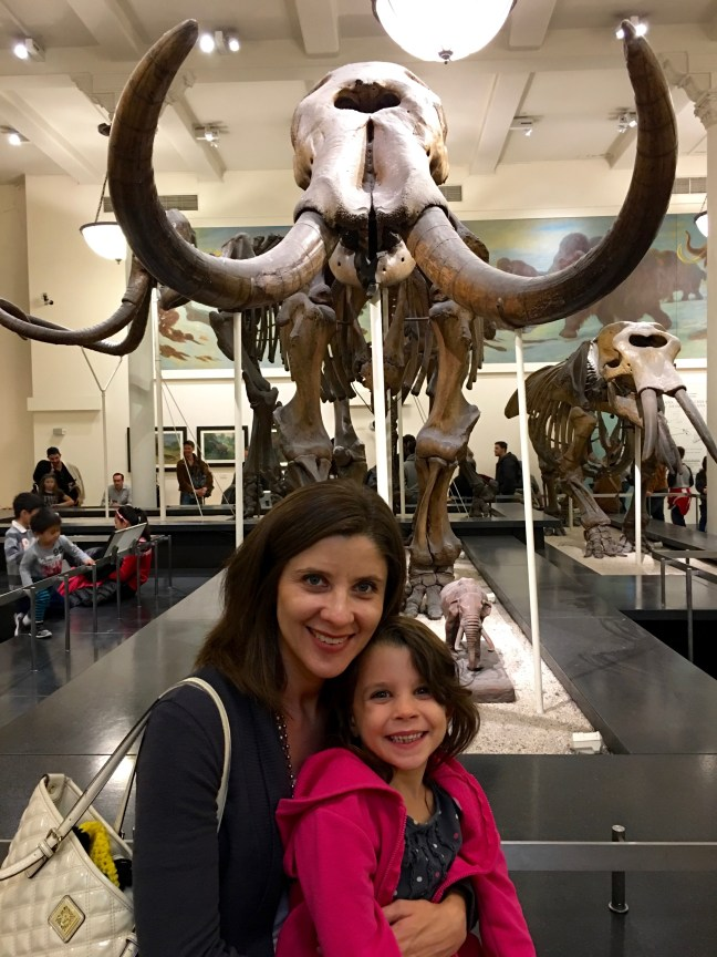 Don't we look cheerful for two people being charged by a mastodon?