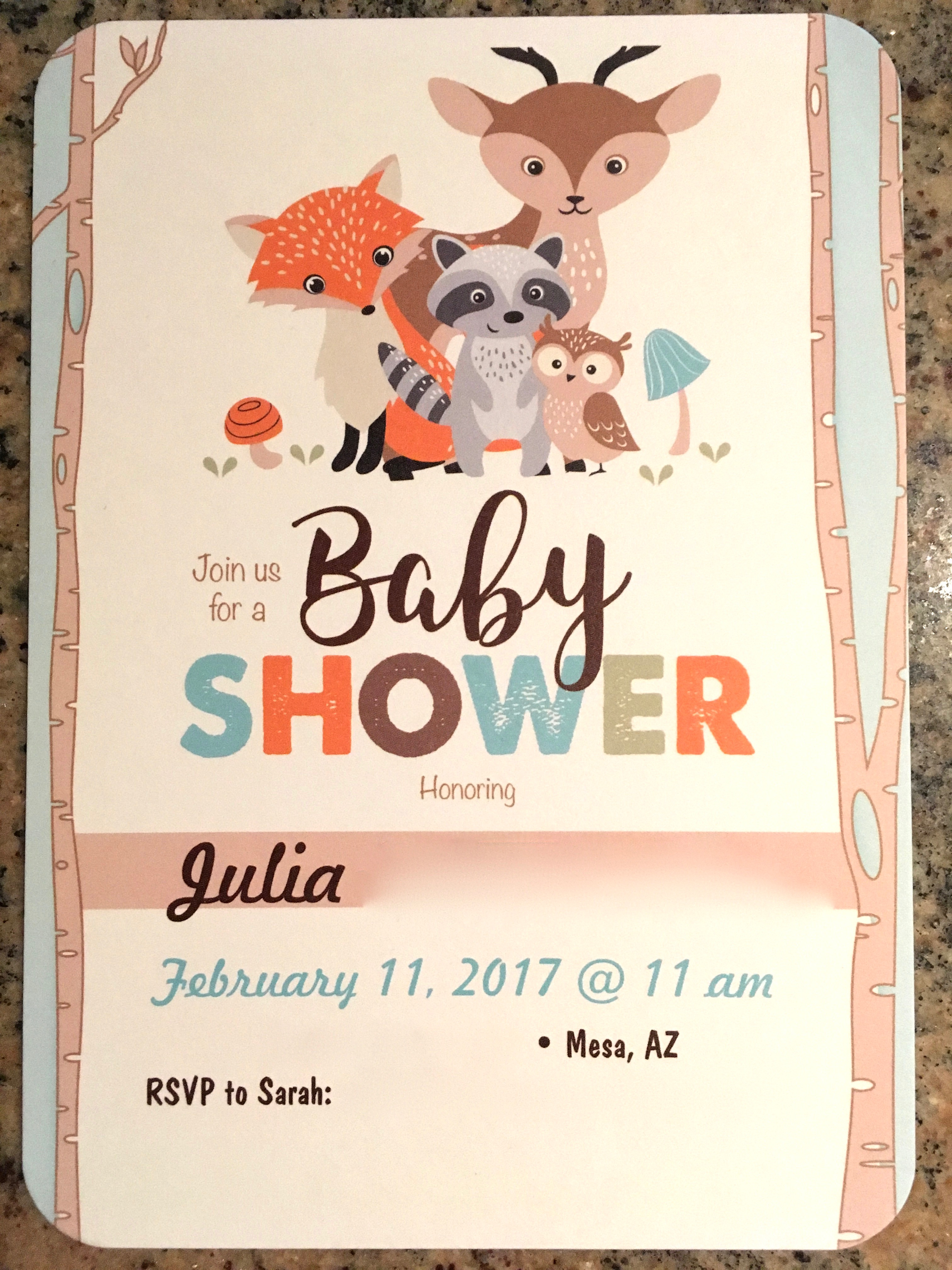 Woodland Creatures Baby Shower Invitation. Iu0027m A Big Believer That An  Invitation Is The First Opportunity To Set The Tone For An Event.