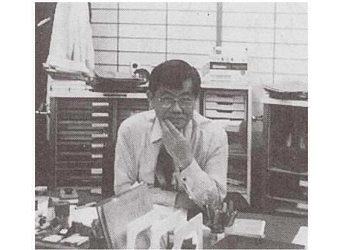 国立がんセンター研究所長室にて(1983年)