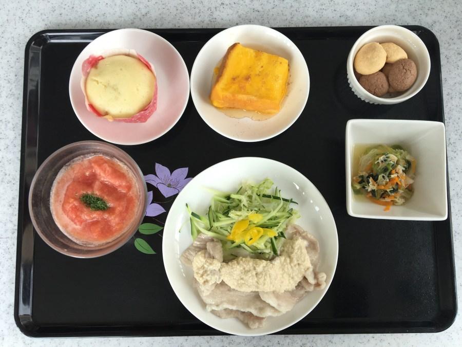 「消化器術後の方のお食事」メニュー