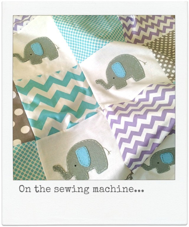 elephant crib quilt by alphabet monkey
