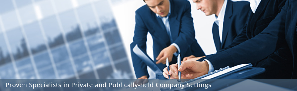 Proven Specialists in Private and Publicly-held Company Settings