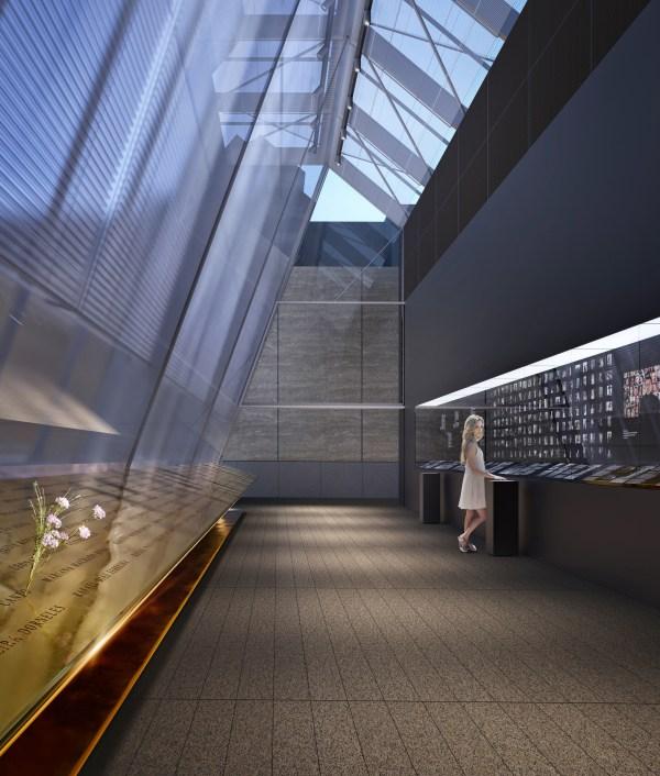O Memorial está colocado em área silenciosa, afastado da rua. A fachada espessa filtra a luz sem, contudo, eliminar relação deste espaço com o seu entorno.