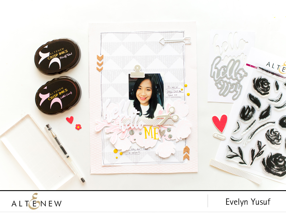 Hello Me styling layout by evelynpy for altenew