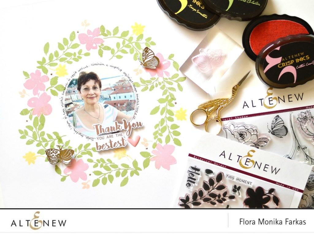 floral wreath with altenew stamps