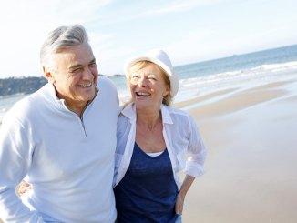 elder couple happy