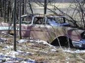 57 Chev wreck