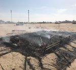 حريق خيمه مقابل سعد العبدالله دون إصابات