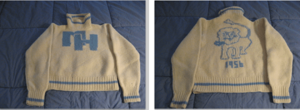 Sweater with a Mount Holyoke lion image