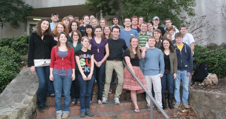 This photograph of DTH staff was taken on Feb. 23, 2010. Andrew Dunn was editor-in-chief; this was the last staff to work in the Student Union newsroom.