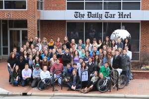 This picture of the 2012-13 DTH staff was taken Feb. 22, 2013. The editor-in-chief was Andy Thomason.