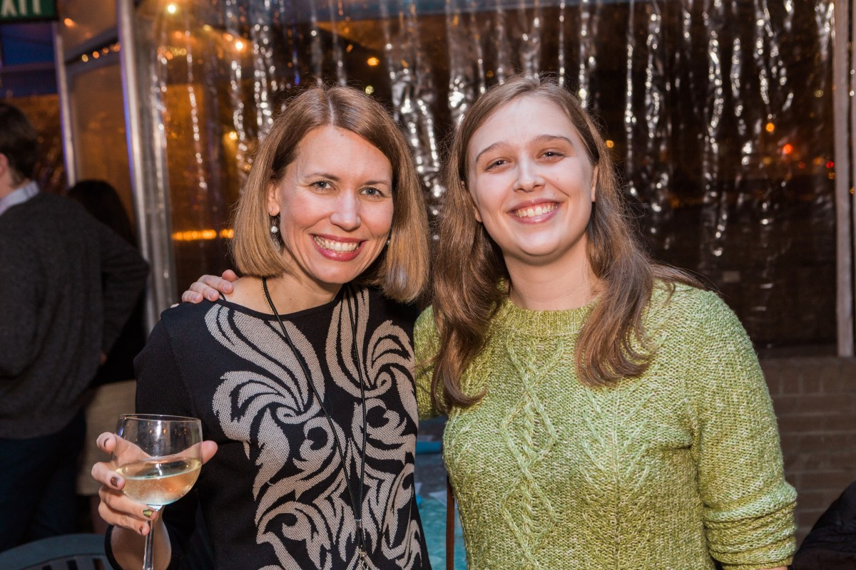 Erica Perel and Paula Seligson, a happy pair. Photo by Erik Perel
