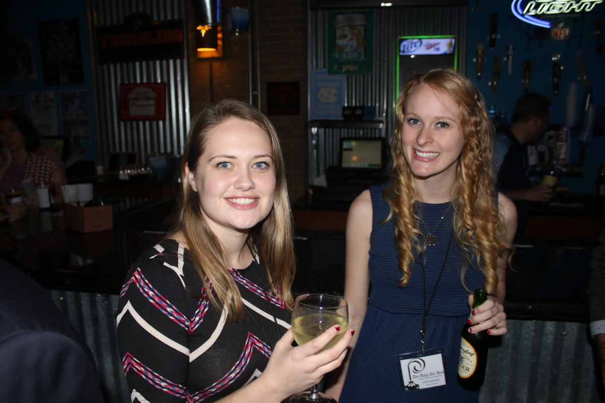 Halle Sinnott and Katie Sweeney at the party. Photo by Alex Kormann