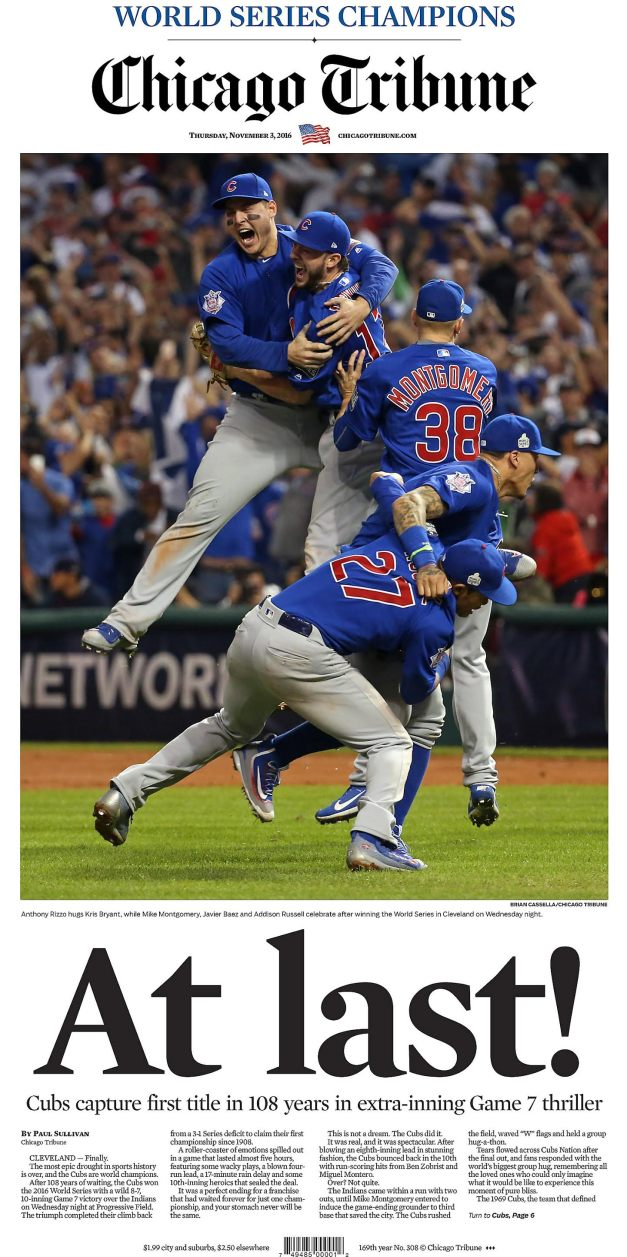 Former DTH Photo Editor Brian Cassella took the picture shared around the world when the Cubs won the World Series in 2016.