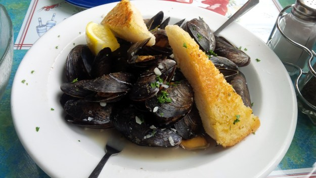 Mussels in a lovely wine sauce