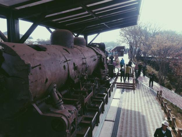 Train that once ran between North and South Korea