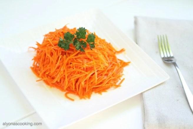 russian-carrot-salad-korean -salad-carrots-garlic-zesty-salad-side