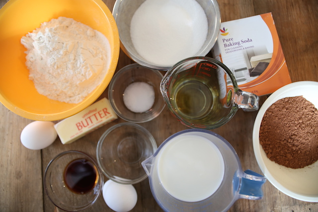 ingredients for cherry cake