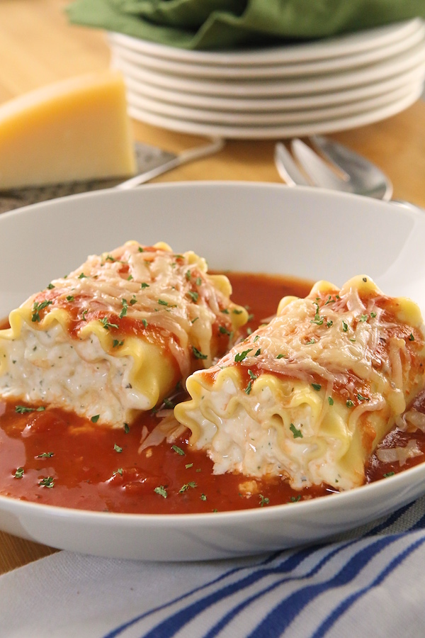 Make-Ahead Lasagna Roll-Ups Recipe