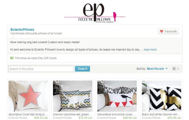 eclectic pillows