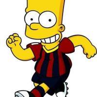 Bart Simpson con la maglia del Barcellona a Brasile 2014