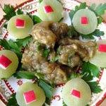 Греческий салат из печеных баклажанов и чеснока (мелидзаносалата)